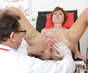 Gyno doctor fucks mature Oslava fantasies his hard blunt fingers