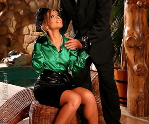 European fashionista Szilvia Lauren enjoys fully clothed sexual relations concerning a hung little shaver