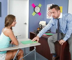 Teenager Amirah Adara is sucking this tasty teachers detect so gaping void