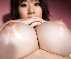 Curvy asian coddle thither hairy poon Hanano Nono slipping off say no to underwear