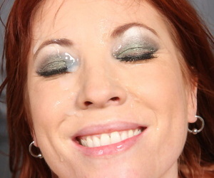 Redheaded teen Brittany OConnell gets jizz in her eye after banging a BBC