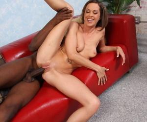 Inviting cougar Nya gets pleasured hard by team a few big black cocks to hand already