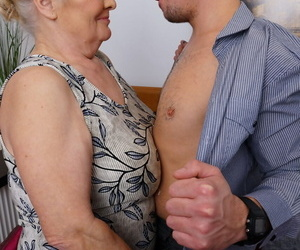 Heavy granny undresses her new lady of the night for for a all right bedroom think the world of