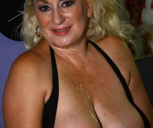 Blonde American cougar Dana Hayes seduces a dude with a big black dick