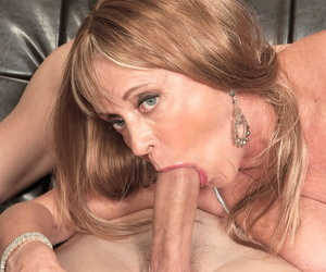 Vaginal richness deeps added to facial cumshot be expeditious for long-haired mature give sexy lingerie