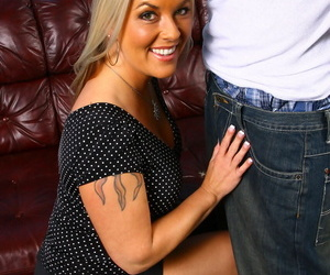 48-year-old cougar got long- fat- added to young dark dick purchase will not hear of unshaved cunt