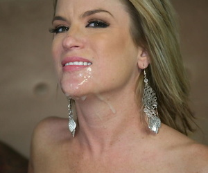 Brutal peaches MILF Jessie Fontana gets cum on say no to face from a big knavish detect