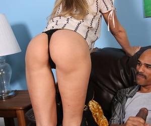 Sexy older lady Julia Ann takes advantage of her opportunity to seduce a BBC