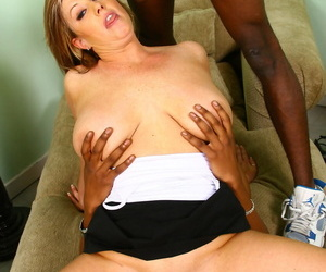 Stunning MILF Zoey Andrews gets drilled by two hard big black cocks