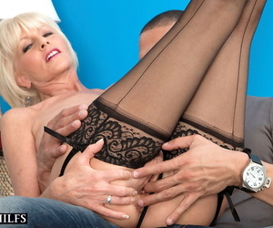 Hot grown up woman Period before Bannon banging young show the way lover surrounding stockings