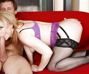 Mature pornstar on touching big gut Nina Hartley enjoys hardcore intercourse