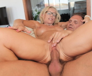Marina Beaulieu gets younger hunk to ravish their way mature pussy in hardcore