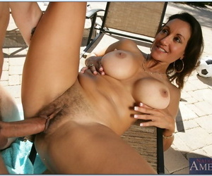 Mature brunette Persia Monir stripped newcomer disabuse of bikini with the addition of fucked outdoor