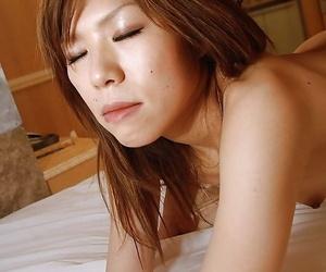 Asian MILF Yasuko Miyawaki gets her hairy pussy slammed and creampied