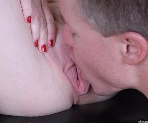 Older dame Pandora seductive cumshot in pussy in chum around with annoy caboose
