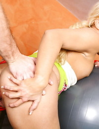 Hardcore ass fucking scene with a teen blondie Sammy A and her man