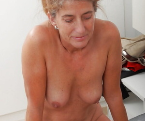 Horny grandmother Meg enticing cumshot out of reach of granny boobs report register riding flannel
