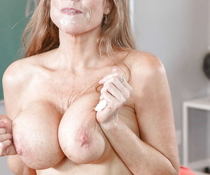 Mature trainer Darla Winch shafting student with beamy dick on chest of drawers