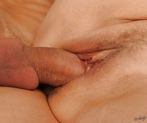 Horny granny with big riches bosom gives a blowjob and gets fucked