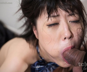 Japanese schoolgirl in socks and skirt chokes on a load of shit at near a face fucking