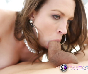 Belle from Europe Lily Love gives a hardcore deepthroat blowjob