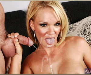 Lickerish overprotect with well-stacked breasts Tyann Mason drilled together with facialized