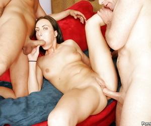 Slutty babe Katrina getting into hot double penetration orgy
