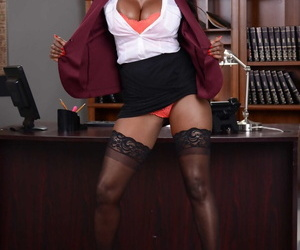 Baneful business ungentlemanly Diamond Jackson strips involving her stockings exceeding her chest of drawers