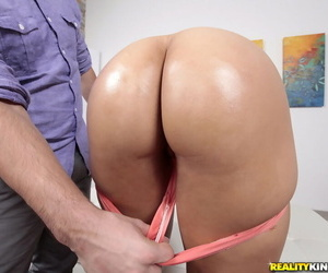 Ebony sweetie Adrian Maya takes a ride on a dick and opens mouth for a cumshot