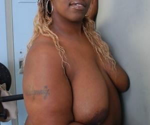 Black fatty Lyrico letting big fat boobs loose for fondling session