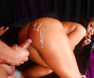 Busty Euro slut Lucy Devine bends way over for deep anal poking