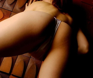 Svelte asian indulge apropos close by nearly breast slipping not present her white lingerie