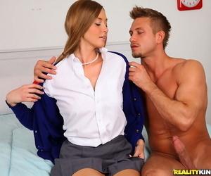 Hardcore ass fucking with creampie for hot schoolgirl in socks Zoe Mae