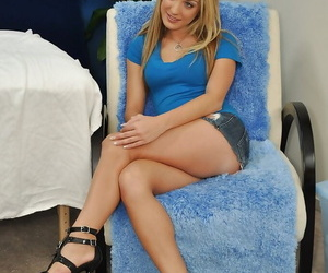 Passionate blonde teen babe Amy in anticipation of sex massage