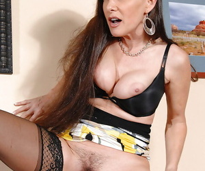 Mature Alexandra Silk gets pounded distance from behind nearly despondent stockings