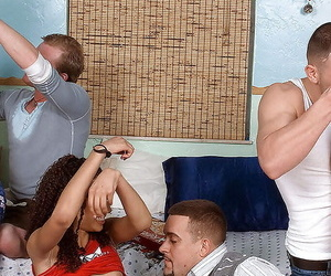 Broad in the beam group sex scene with luring layman teens.
