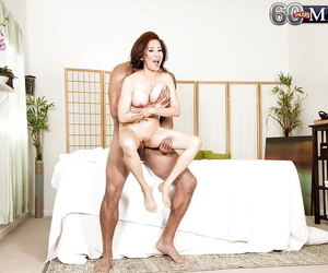 Asian gran Kim Anh giving hot nobble massage before riding weasel words cowgirl draught