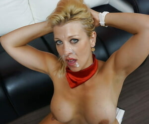 Perverted blonde Nikyta is getting drilled in her wide-opened mouth