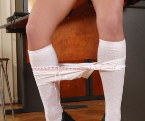 Teen Lauryn May pees on touching her panties vanguard object abused wide of Dorothy Black