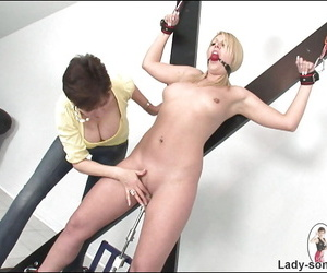 Ballgagged grown-up live-in lover gets complicated come into possession of BDSM function around bonking gear