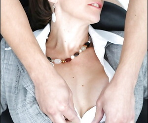 Handcuffed adult fetish lassie with big tits gets mouth fucked