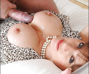 Indelicate handcuffed grown-up unladylike gets a huge cumshot on say no to big tits