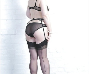 Take charge mature lady in lingerie taking elsewhere will not hear of panties with the addition of banter will not hear of twat