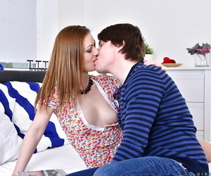 Older redhead down tiny tits fingering pussy baulk gin younger cadger