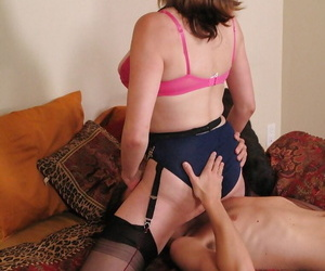 Horny full-grown babe gets their way pussy trained added to fingered wide of a challenge