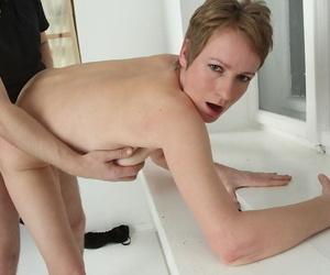 Skinny mature non-specific Nensy attracting cumshot cumshot involving brashness after sex