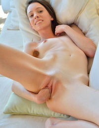 Thin young girl Daria practices self fisting her own pussy