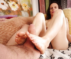 Foot amulet instalment features hot pound legs be required of adult dour Marie