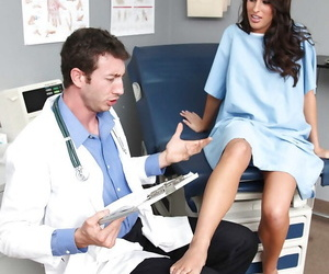 Comely Kortney Kane round big tits and X-rated nuisance fucks round her doctor