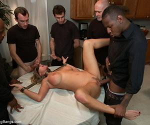 Bondaged increased unconnected with blindfolded MILF Zoe Beanfeast was fucked unconnected with group be worthwhile for men